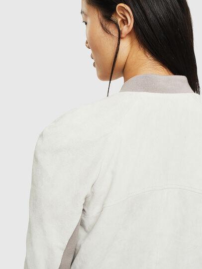 Diesel - L-CERITE, Bianco - Giacche di pelle - Image 5