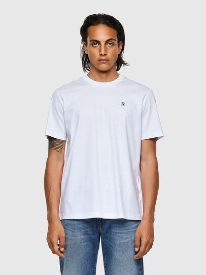 Diesel - T-JUST-ROMOHI, Bianco - T-Shirts - Image 1
