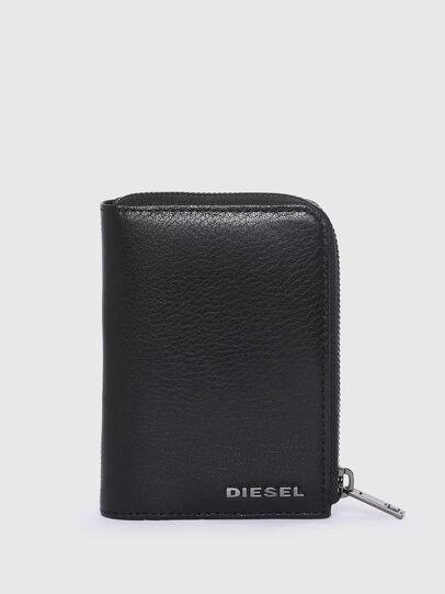Diesel - L-12 ZIP, Blu/Nero - Portafogli Piccoli - Image 1