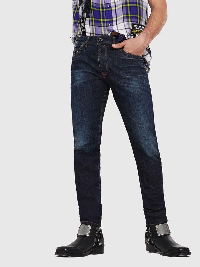 Diesel - Thommer 081AT, Blu Scuro - Jeans - Image 1