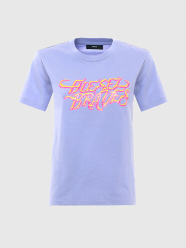T-shirt con stampa Diesel Braves