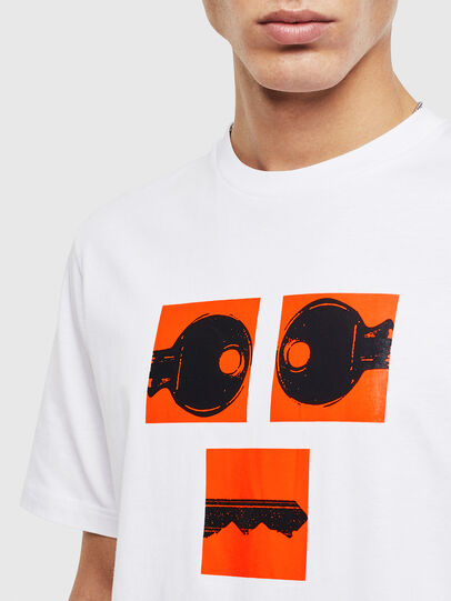 Diesel - T-JUST-T23, Bianco - T-Shirts - Image 5
