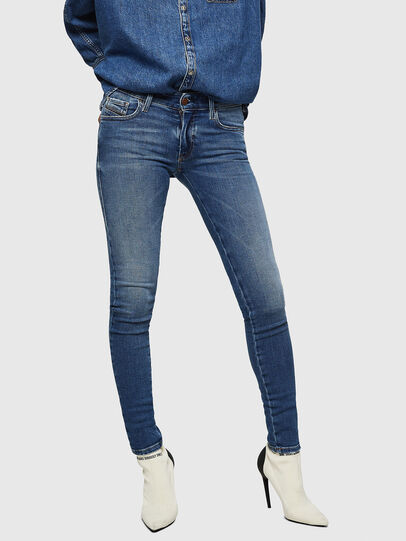 Diesel - Slandy Low 083AN, Blu medio - Jeans - Image 1