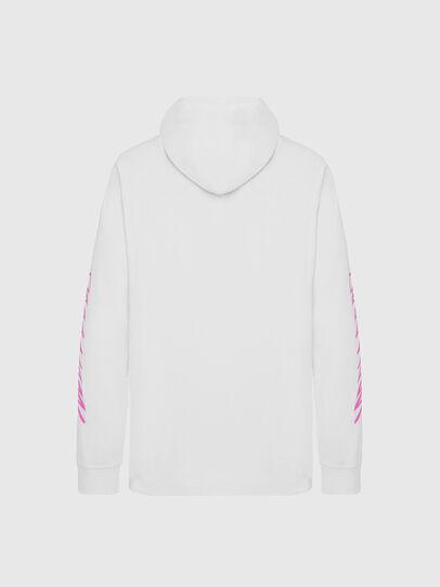 Diesel - T-JUST-LS-HOOD-X30, Bianco - T-Shirts - Image 2