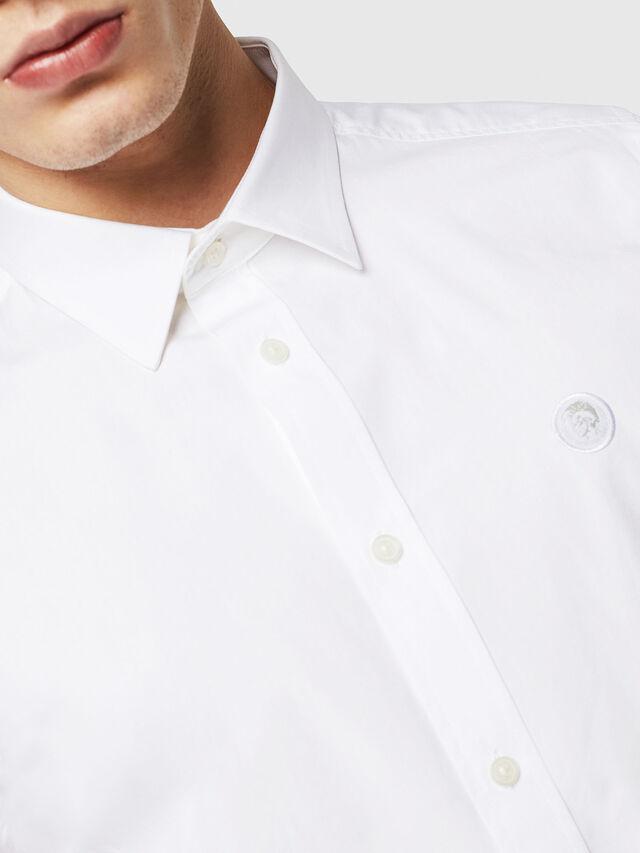 Diesel - S-BILL, Bianco - Camicie - Image 3