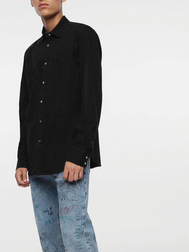 Diesel - D-PLANET, Nero Jeans - Camicie in Denim - Image 4