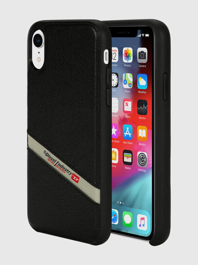 Diesel - DIESEL LEATHER CO-MOLD CASE FOR IPHONE XR, Nero - Cover - Image 1