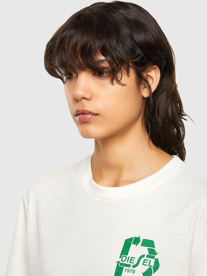 Diesel - T-JUST-N40, Bianco - T-Shirts - Image 6
