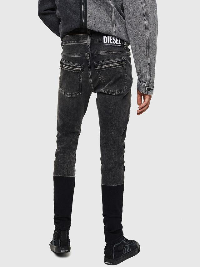 Diesel - D-Amny 0890T, Nero/Grigio scuro - Jeans - Image 2