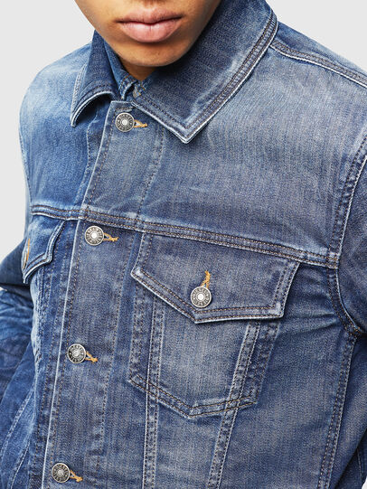 Diesel - NHILL-TW, Blu Jeans - Giacche in denim - Image 5