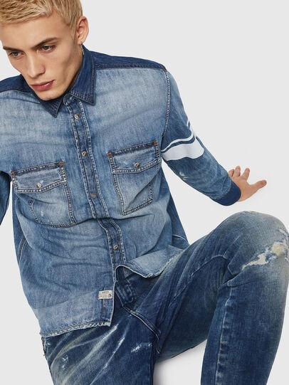 Diesel - D-MILLER, Blu Jeans - Camicie in Denim - Image 4