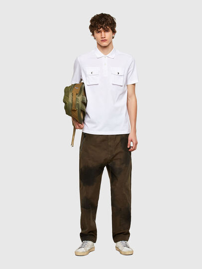 Diesel - T-ERPOLOCK, Bianco - Polo - Image 5