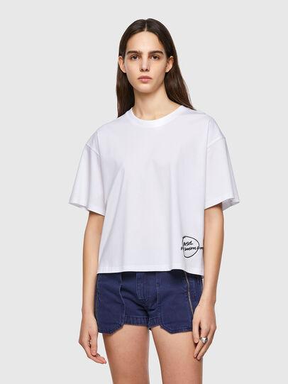 Diesel - T-BOWBOW, Bianco - T-Shirts - Image 1