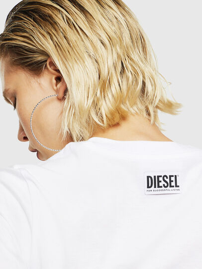 Diesel - T-SILY-YB, Bianco - T-Shirts - Image 4