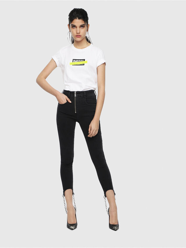 Diesel - T-SILY-WL, Bianco - T-Shirts - Image 4