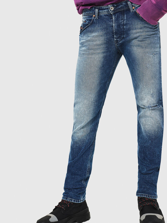 Diesel - Belther 081AQ, Blu medio - Jeans - Image 1