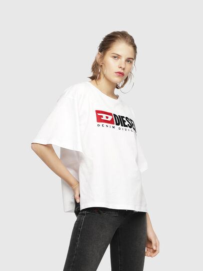 Diesel - T-JACKY-D, Bianco - T-Shirts - Image 1