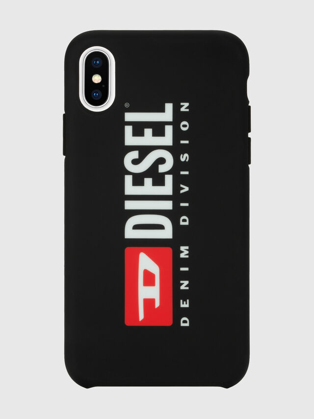 Diesel - DIESEL PRINTED CO-MOLD CASE FOR IPHONE XS & IPHONE X, Nero/Bianco - Cover - Image 2