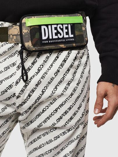 Diesel - BELT RUBBER CASE BIG, Verde Camo - Portafogli Continental - Image 6