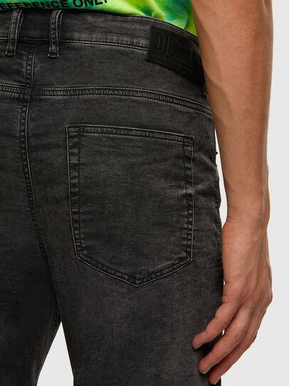 Diesel - D-VIDER JoggJeans® 009FZ, Nero/Grigio scuro - Jeans - Image 4