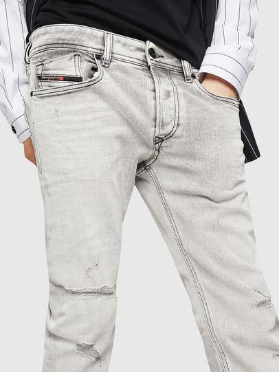 Diesel - Sleenker 0090F, Grigio Chiaro - Jeans - Image 3