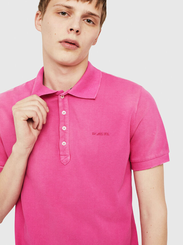 Diesel - T-NIGHT-BROKEN, Fucsia - Polo - Image 4
