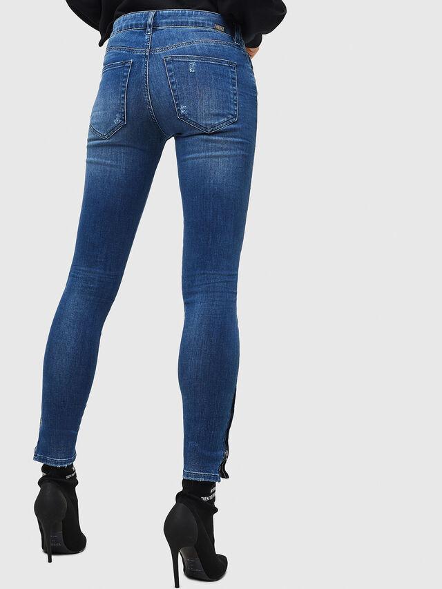 Diesel - Slandy Zip 089AI, Blu medio - Jeans - Image 2