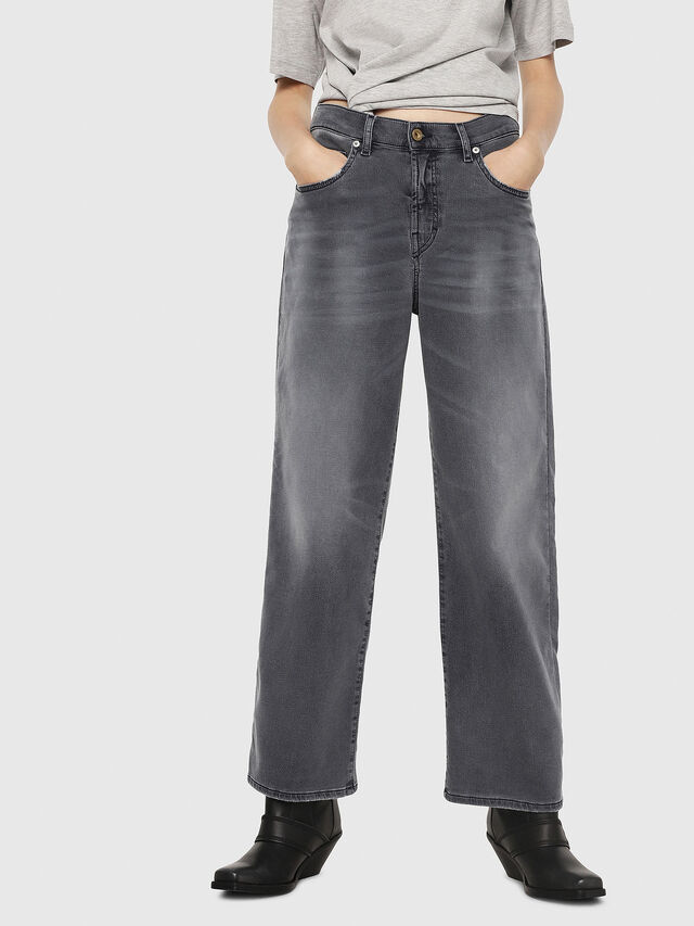 Diesel - Widee JoggJeans 069EH, Nero/Grigio scuro - Jeans - Image 1