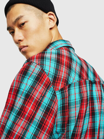 Diesel - S-GERRY-CHECK, Rosso - Camicie - Image 5