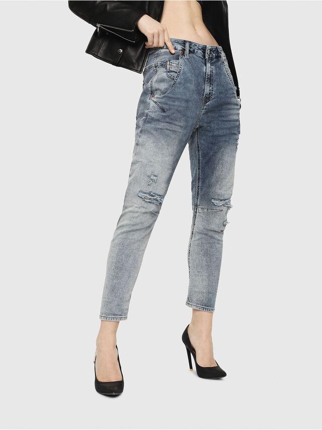 Diesel - Fayza JoggJeans 069FC, Blu Chiaro - Jeans - Image 1