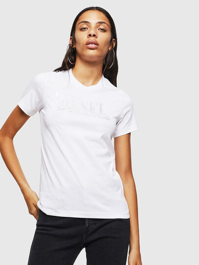 Diesel - T-SILY-WN, Bianco - T-Shirts - Image 1