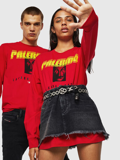 Diesel - LCP-T-JUST-LS-PALERM, Rosso - T-Shirts - Image 6