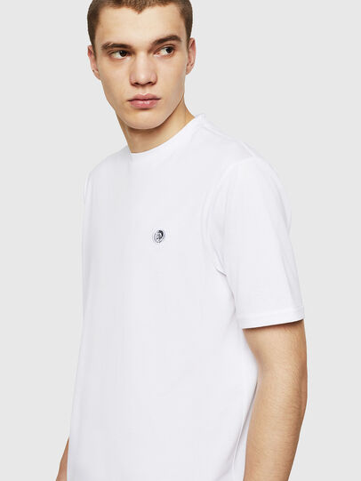 Diesel - T-JUSTY, Bianco - T-Shirts - Image 4