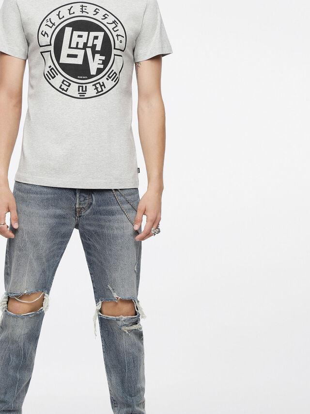 Diesel - T-DIEGO-XC, Melange Chiaro - T-Shirts - Image 3