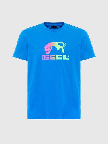 T-shirt con stampe sfumate