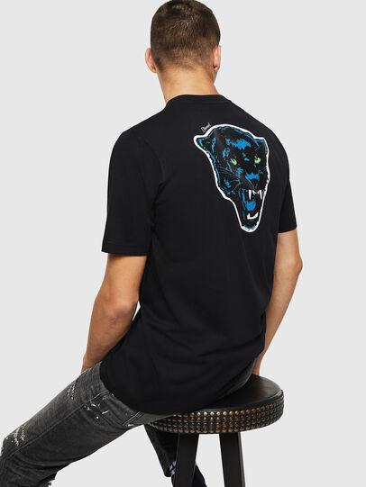 Diesel - T-JUST-B12, Nero - T-Shirts - Image 4