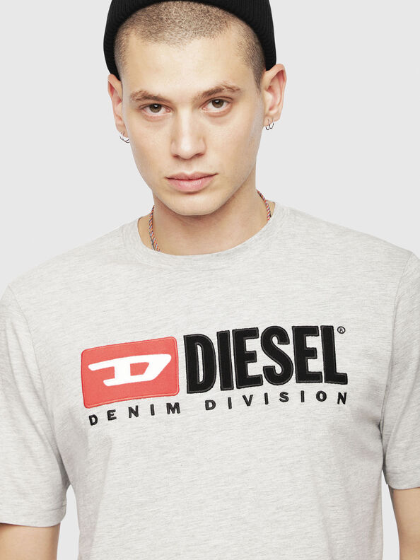 T-JUST-DIVISION, Grigio Chiaro - T-Shirts