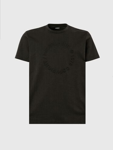 T-shirt con logo Copyright in rilievo