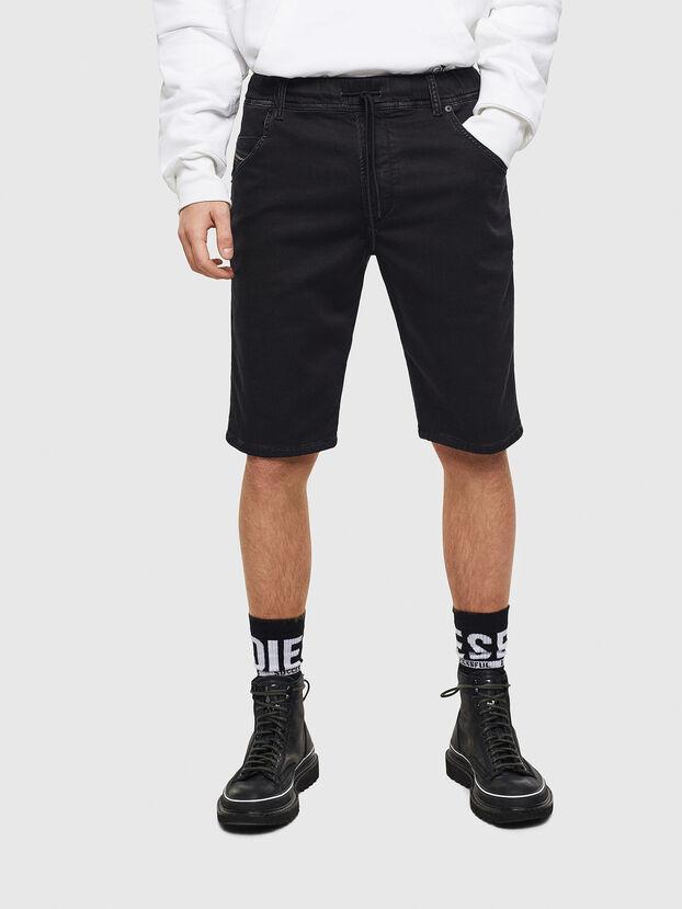 D-KROOSHORT JOGGJEANS, Nero/Grigio scuro - Shorts