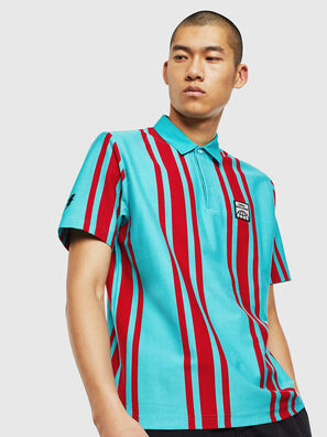 T-POLO-STRIP, Blu/Rosso - Polo