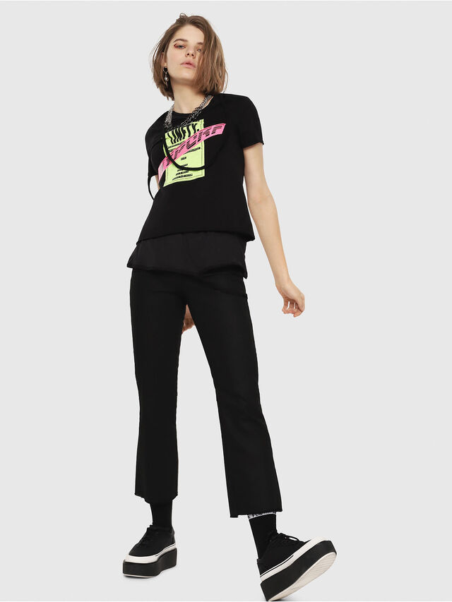 Diesel - T-EMIKO-B, Nero - T-Shirts - Image 6