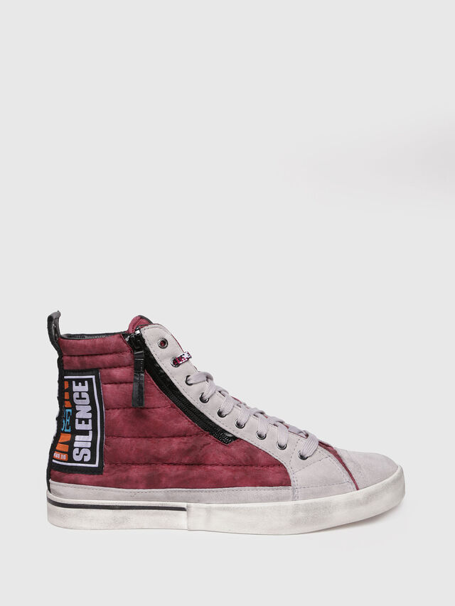Diesel - D-VELOWS MID PATCH, Borgogna - Sneakers - Image 1