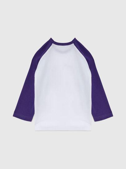 Diesel - TBALYB-FL-R, Bianco/Viola - T-shirts e Tops - Image 2