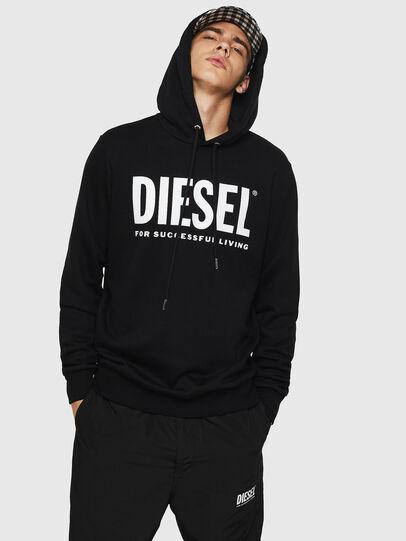 Diesel - S-GIR-HOOD-DIVISION-, Nero - Felpe - Image 1