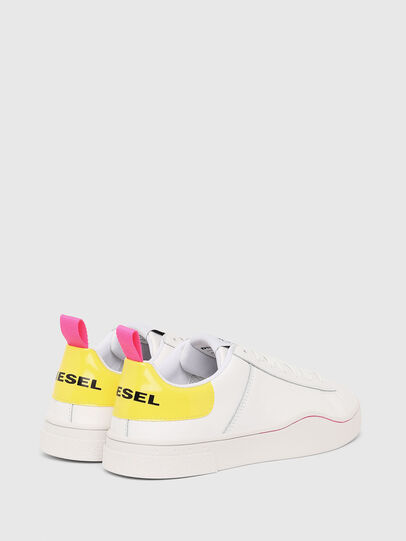 Diesel - S-CLEVER LOW LACE W, Bianco/Giallo - Sneakers - Image 3