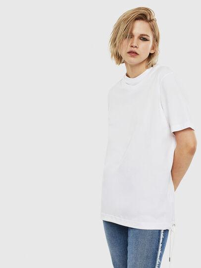 Diesel - T-HUSTY, Bianco - T-Shirts - Image 3