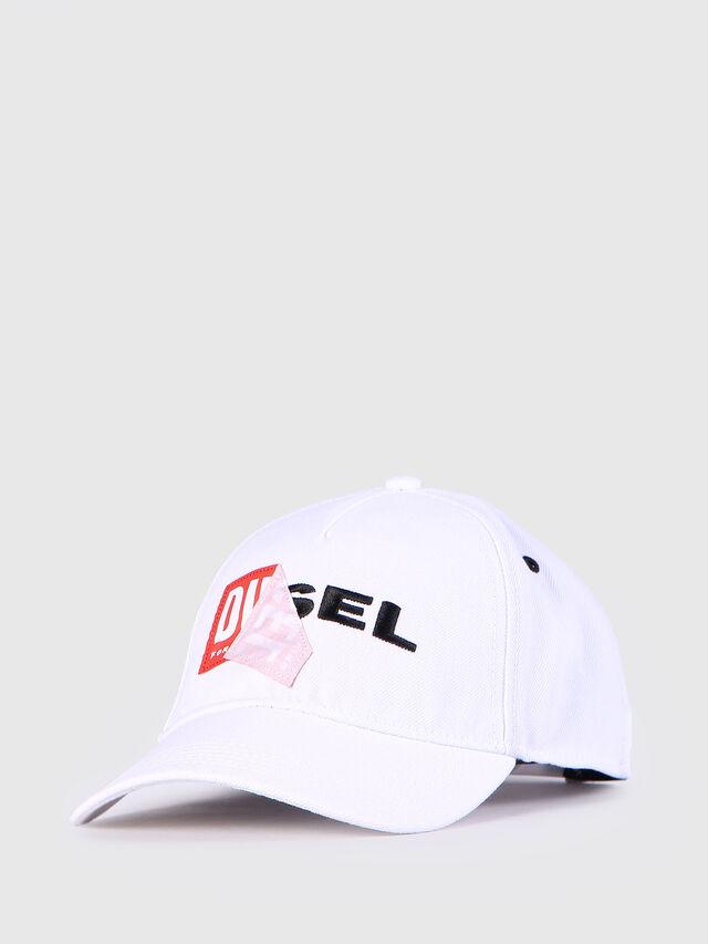 Diesel CAKERYM, Bianco - Cappelli, Berretti e Guanti - Image 2