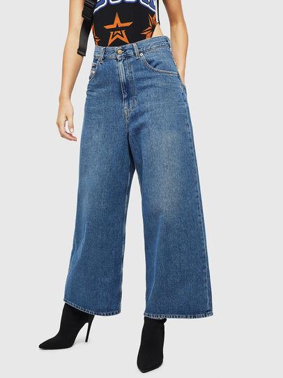 Diesel - D-Luite 080AN, Blu medio - Jeans - Image 1