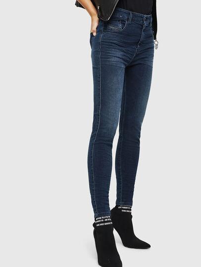 Diesel - Slandy High 084UT, Blu Scuro - Jeans - Image 4