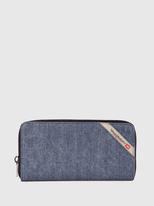 Diesel - 24 ZIP, Blu Jeans - Portafogli Con Zip - Image 1